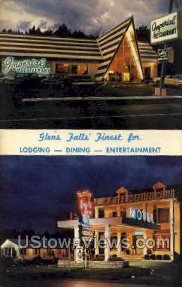 Imperial Restaurant - Glen Falls, New York NY Postcard