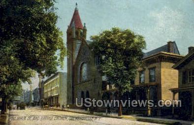 Baptist Church - Gloversville, New York NY Postcard