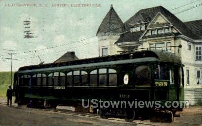 Limited Electric Car - Gloversville, New York NY Postcard