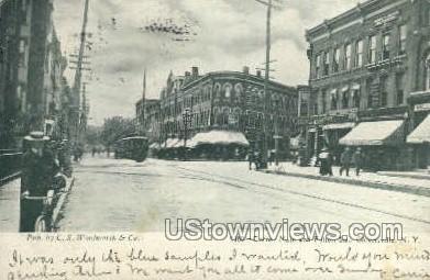 Corner Main - Gloversville, New York NY Postcard