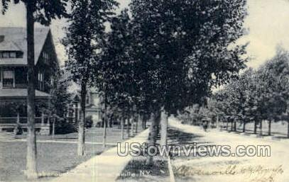 Kingsborough Ave - Gloversville, New York NY Postcard