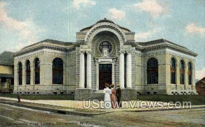 Library - Gloversville, New York NY Postcard