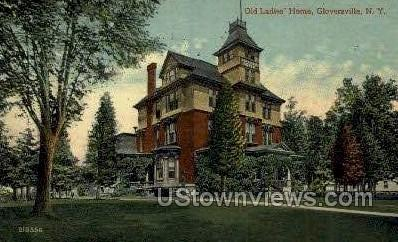 Old Ladies' Home - Gloversville, New York NY Postcard