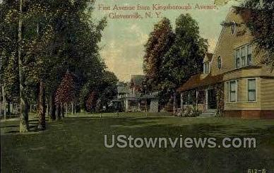 First Ave - Gloversville, New York NY Postcard