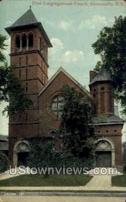 Congregrational Church - Gloversville, New York NY Postcard