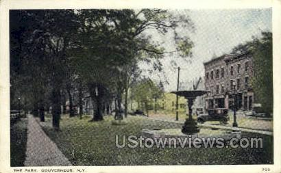 The Park - Gouverneur, New York NY Postcard