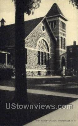 Baptist Church - Gouverneur, New York NY Postcard