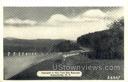 NY City Reservoir - Grahamsville, New York NY Postcard