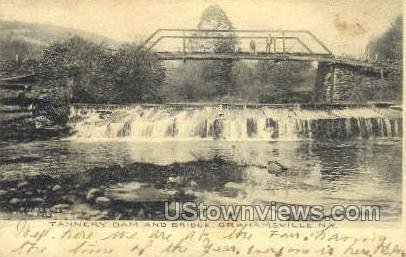 Tannery Dam - Grahamsville, New York NY Postcard