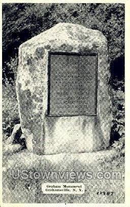 Graham Monument - Grahamsville, New York NY Postcard