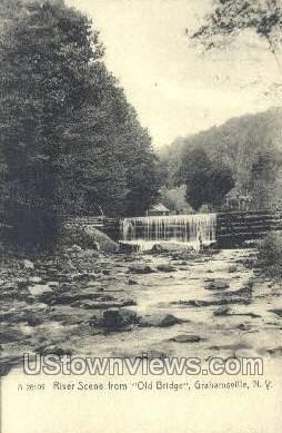 River - Grahamsville, New York NY Postcard