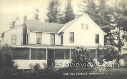 Pine Hill Cottage - Greenville, New York NY Postcard