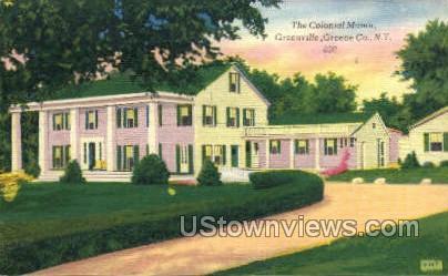 Colonial Manor - Greenville, New York NY Postcard
