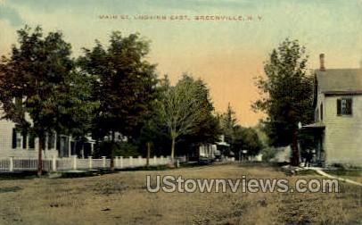 Main Street - Greenville, New York NY Postcard