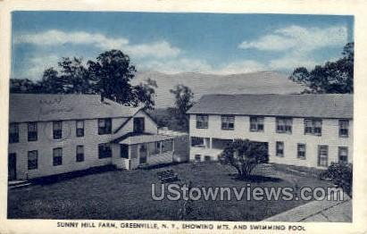 Sunny Hill Farm - Greenville, New York NY Postcard