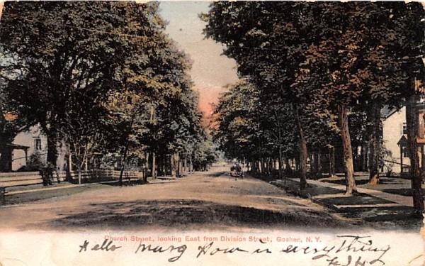 Church Street Looking East Goshen, New York Postcard