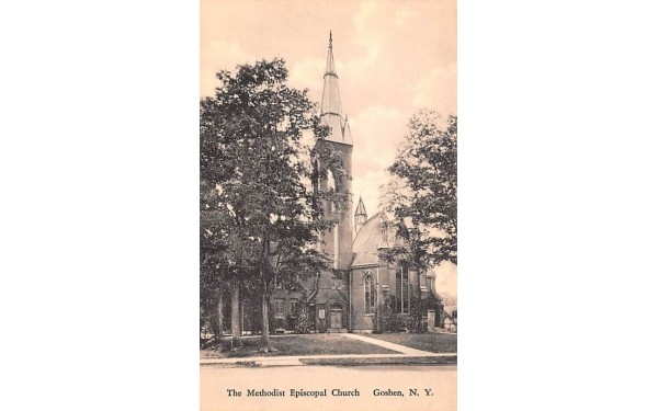 Methodist Episcopal Church Goshen, New York Postcard