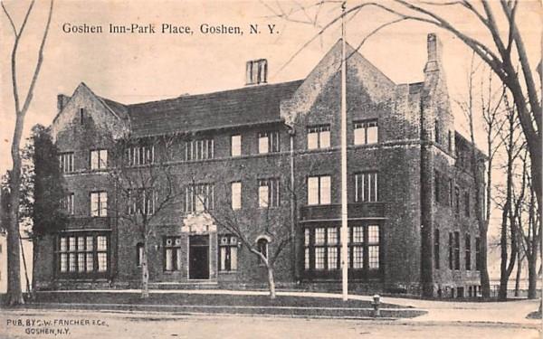 Goshen Inn Park Place New York Postcard