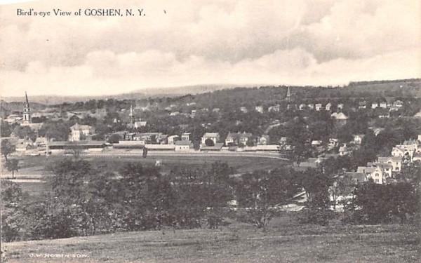 Bird's Eye View Goshen, New York Postcard