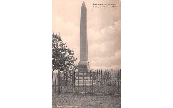 Hambletonian Monument Goshen, New York Postcard