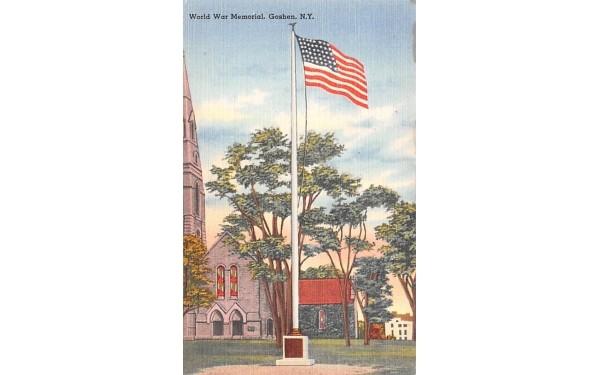 World War Memorial Goshen, New York Postcard