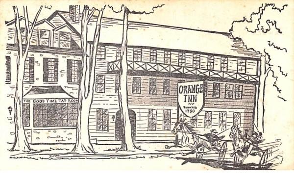 Orange Inn 1790 Goshen, New York Postcard