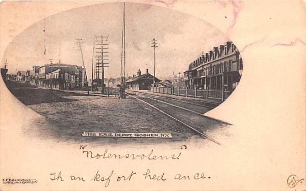 Erie Depot Goshen, New York Postcard
