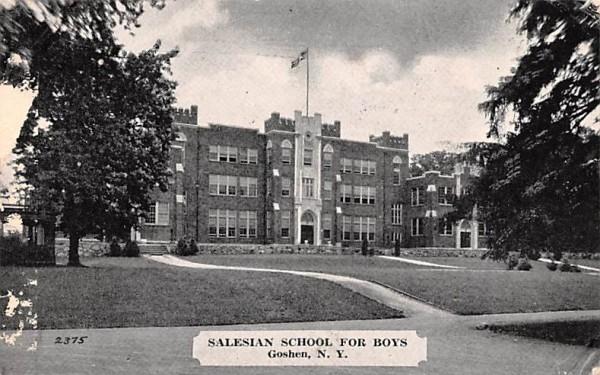 Salesian School for Boys Goshen, New York Postcard