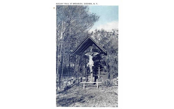 Rosary Trail at Broadlea Goshen, New York Postcard