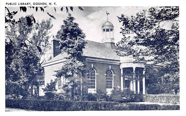 Public Library Goshen, New York Postcard