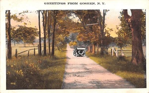 Greetings from Goshen, New York Postcard