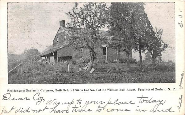 Residence of Benjamin Coleman Goshen, New York Postcard