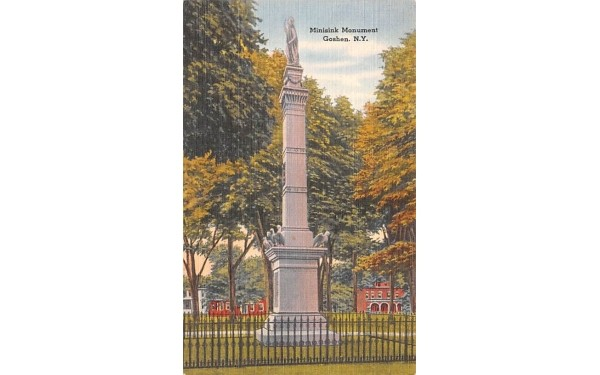 Minisink Monument Goshen, New York Postcard