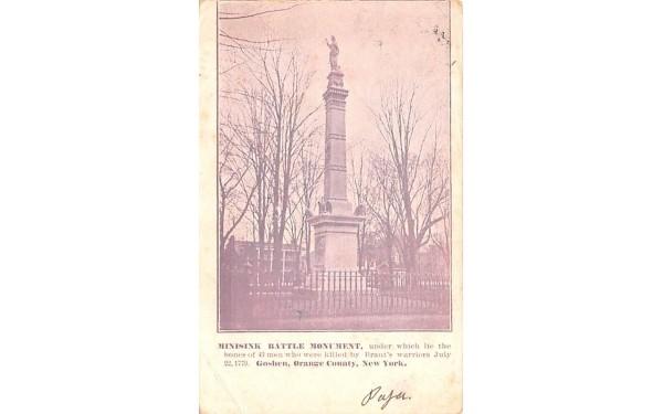 Minisink Battle Monument Goshen, New York Postcard