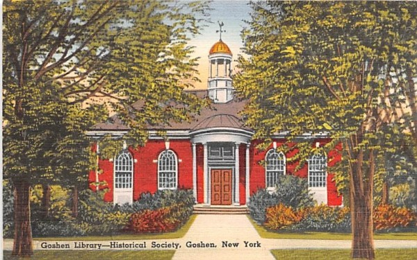 Goshen Library New York Postcard