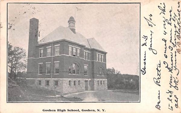 Goshen High School New York Postcard