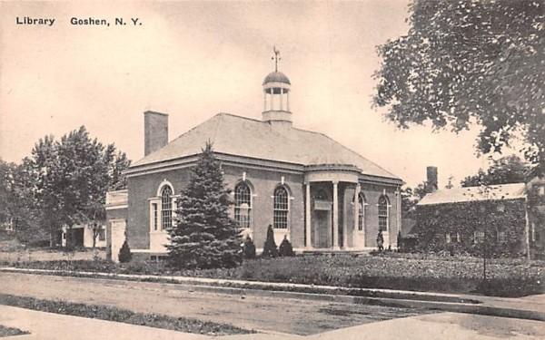 Library Goshen, New York Postcard