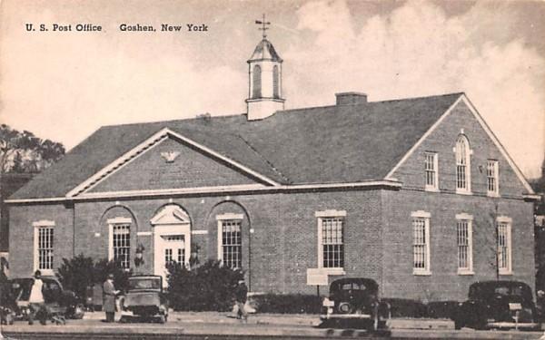 US Post Office Goshen, New York Postcard