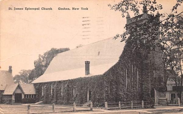 St James Episcopal Church Goshen, New York Postcard