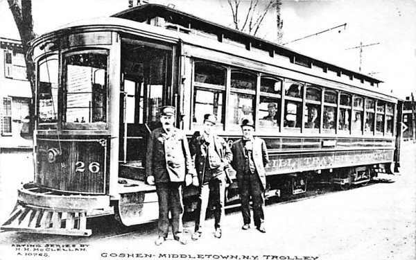 Goshen Middletown Trolley New York Postcard