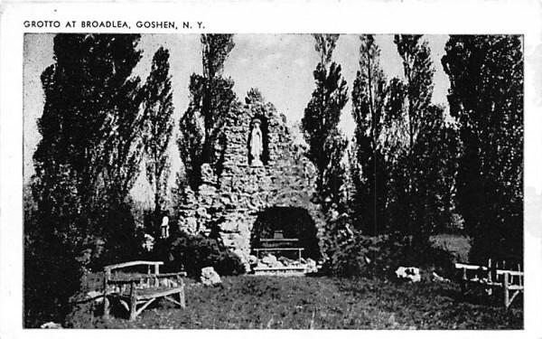 Grotto at Broadlea Goshen, New York Postcard
