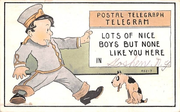 Postal Telegraph Goshen, New York Postcard