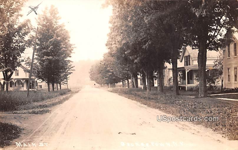 Main Street - Georgetown, New York NY Postcard