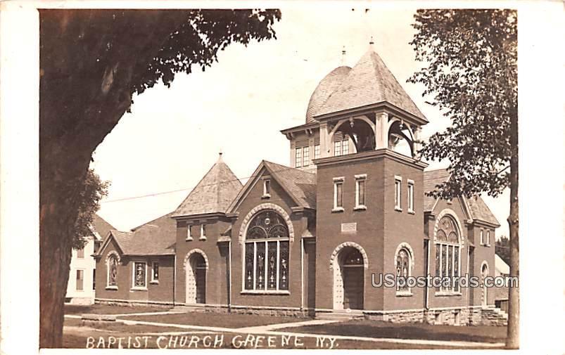 Baptist Church - Greene, New York NY Postcard