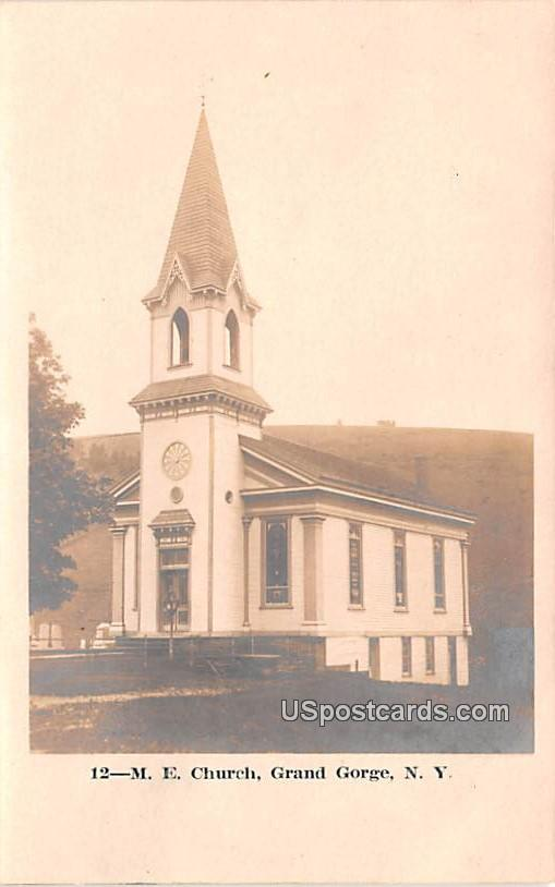 ME Church - Grand Gorge, New York NY Postcard