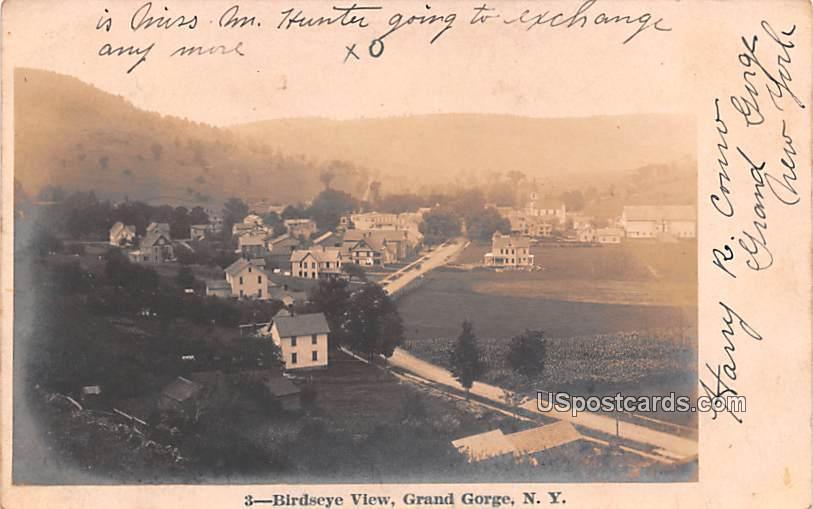 Birds Eye View - Grand Gorge, New York NY Postcard
