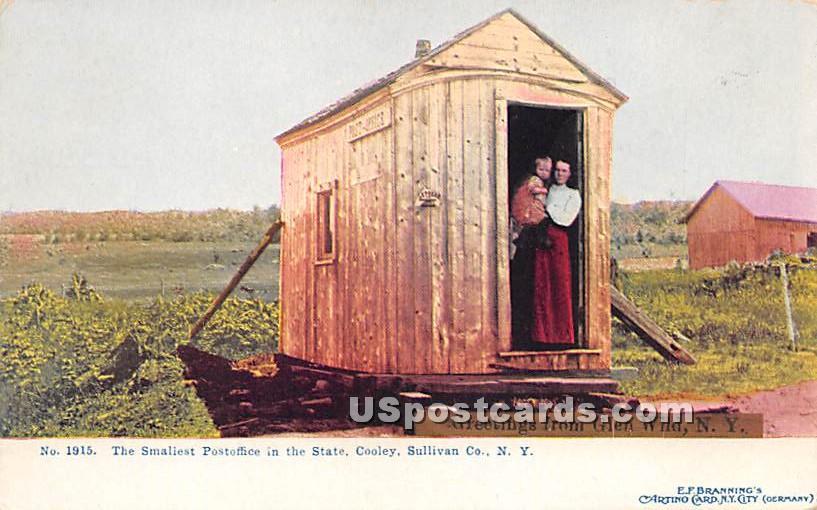 Smallest Postoffice in the State - Glen Wild, New York NY Postcard
