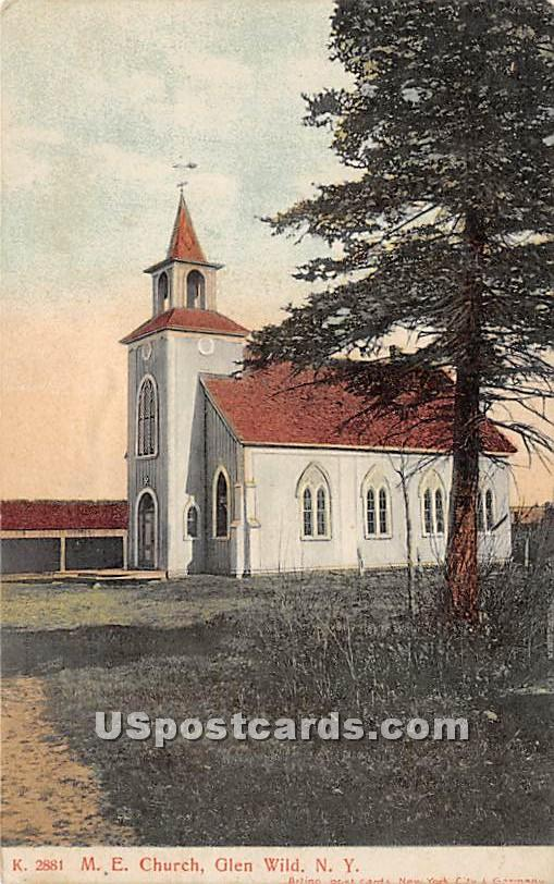 M E Church - Glen Wild, New York NY Postcard