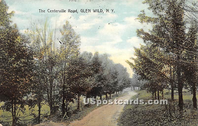 The Centerville Road - Glen Wild, New York NY Postcard