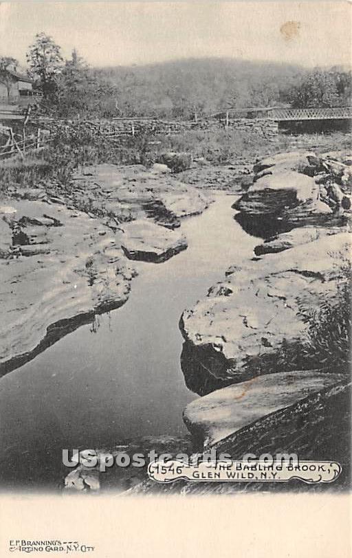 Babling Brook - Glen Wild, New York NY Postcard